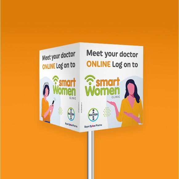 Bayer SmartWoman Display Cube