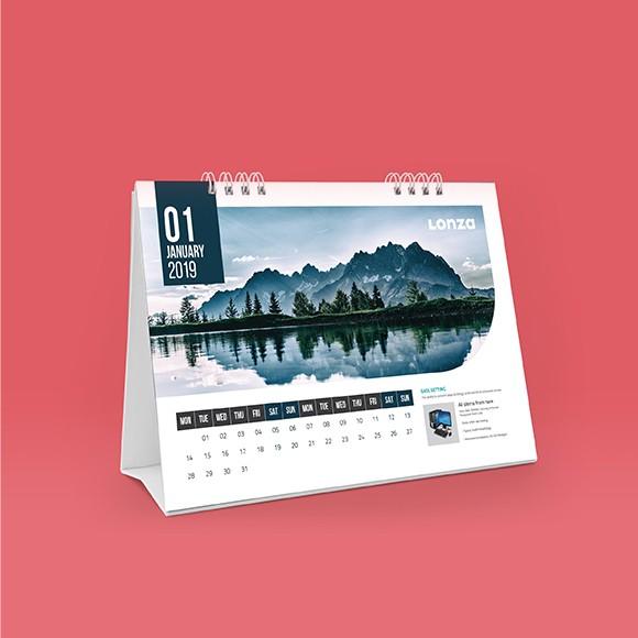 Lonza Desk Calendar Design