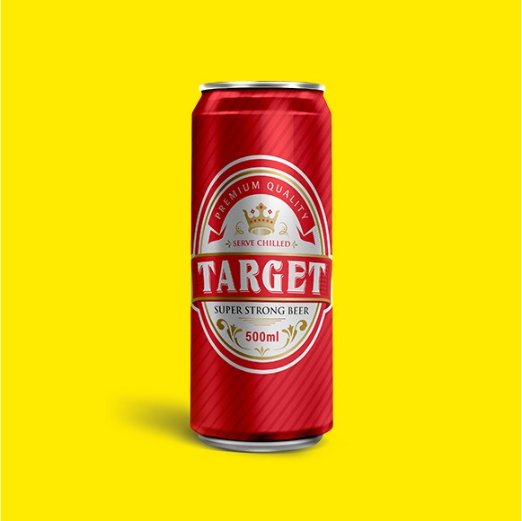 Taget Beer Can Design